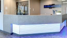 Réception et mobiliers Clinique Médicale St-Anselme